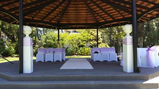 Queens gardens wedding ceremony in east perth. Styling by jimeralds designs.