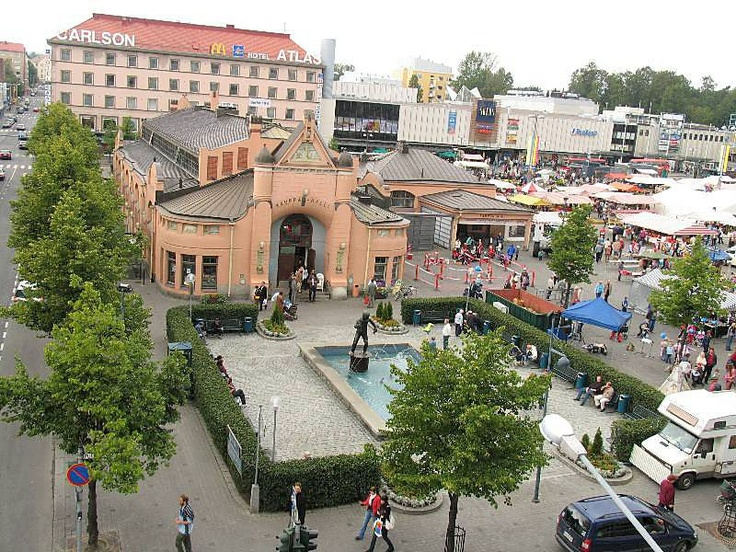View over Kuopio Market Place pre-renovation.