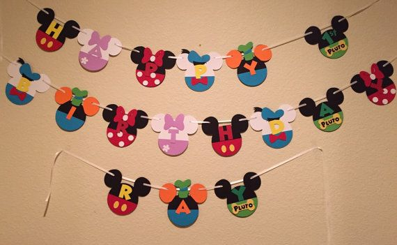 Mickey Mouse Club House Banner, Mickey Mouse banner, Mickey Mouse party theme, mickey and friends banner