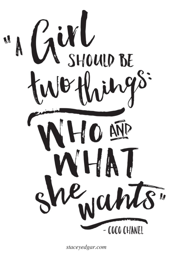 A Girl Should Be Two Things - Who And What She Wants - Pin
