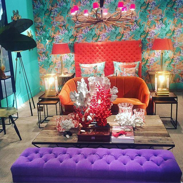 Сочный интерьер - яркое воспоминание выставки #maisonobjet #interiordesign #interior #atmosphere #интерьер #дизайн #атмосферно #fancyhomecollection