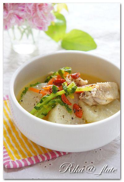 鶏と大根のぷるっぷるコラーゲン薬膳スープ 【美肌・風邪予防・喉不調 ...