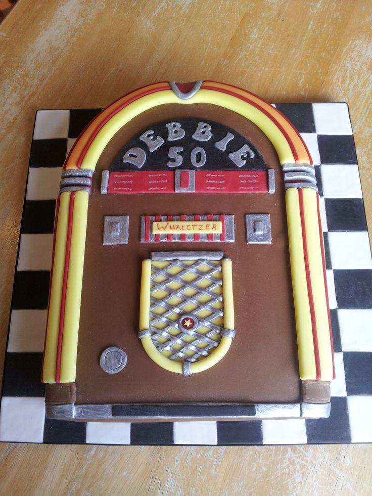 Retro Jukebox Cake Parties Pinterest Jukebox Cakes