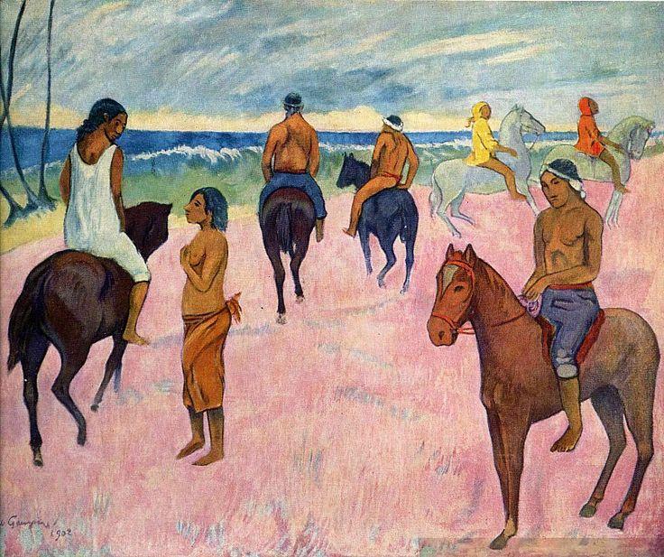 Всадники на пляже. Поль Гоген
