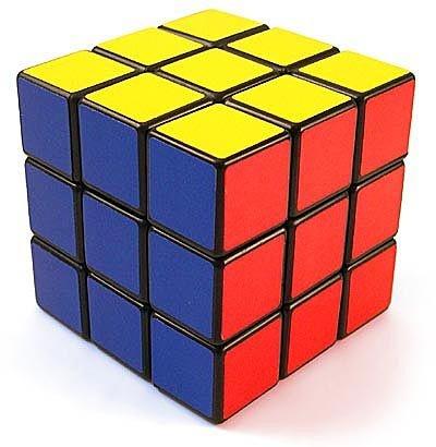 ...il famoso Cubo di Rubik che toglierà il sonno a un'intera generazione. Ma quanto poteva essere difficile, diranno gli scafati figli del 2000? Un cubo di 6 lati, ogni lato 9 quadratini colorati? Beh, figli della playstation, sappiate che le combinazioni possibili in cui il malefico cubo poteva trovarsi sono 43,252,003,274,489,856,000 (!!), una sola quella giusta, con tutti i lati colorati! E c'era chi lo risolveva tutto in meno di 25 secondi!!