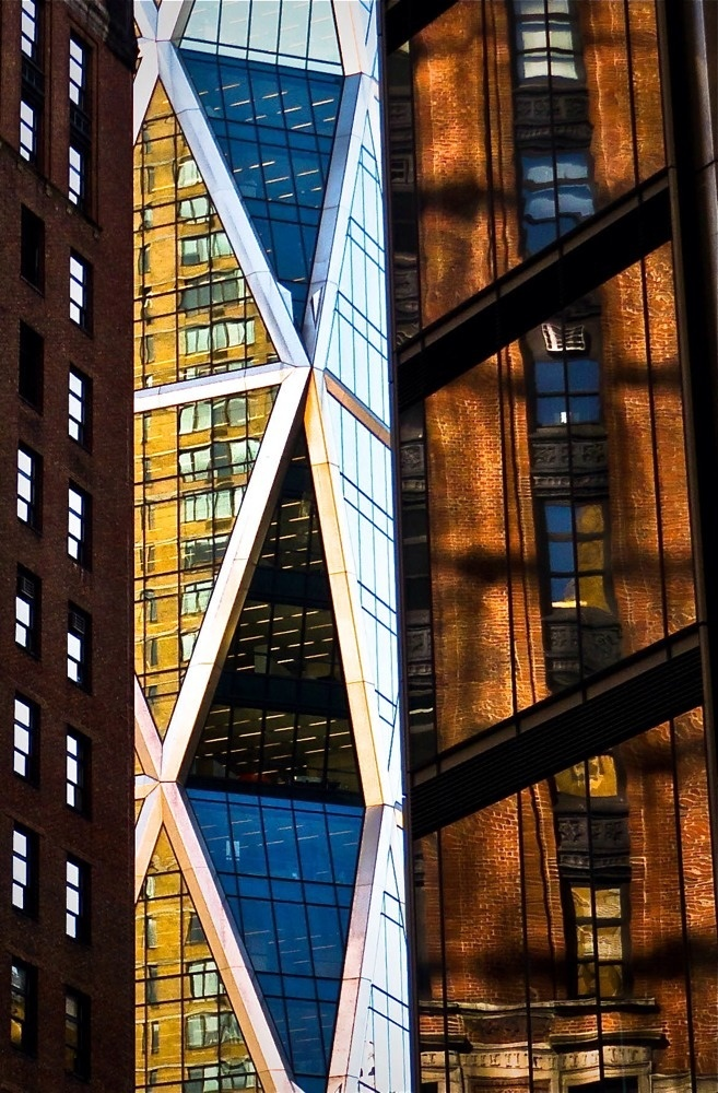 Hearst Tower peeking through. (By Eric K. Washington): Washington, Towers, Tower Peeking, Photography
