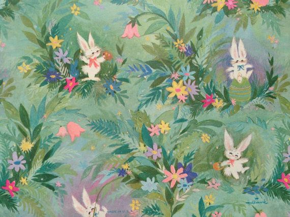 630 best vintage wrapping paper images on pinterest wrapping vintage gift wrapping paper happy easter by thegooseandthehound 600 negle