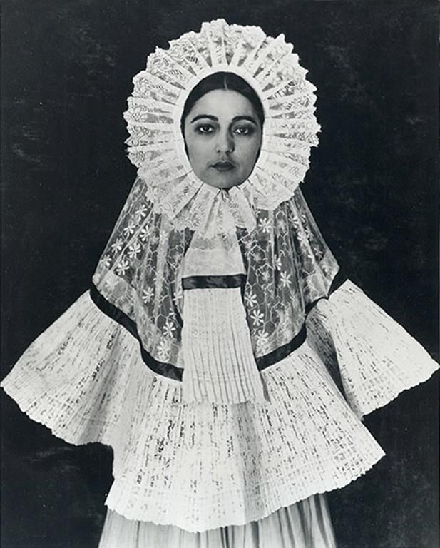 Rosa Covarrubias in Tehuana dress, by Edward Weston, 1926, a traditional Zapotec costume from the Isthmus of Tehuantepec in the state of Oaxaca, Mexico.