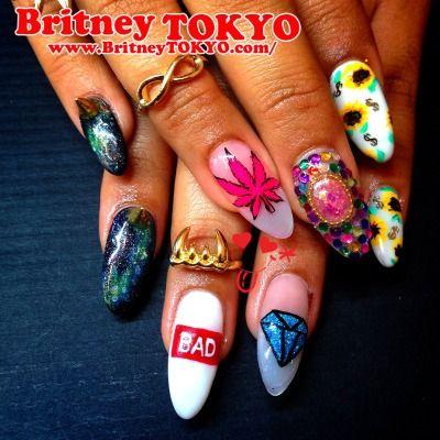 BAD girls Nail ArtbyBritney TOKYO☆ ✌ ✿ ✡ ✟ ☺ ✞ TOKYO meets Hollywood ✞ ☺ ✟ ✡ ✿