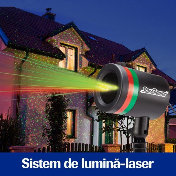 Proiector laser de Craciun Star Shower Motion
