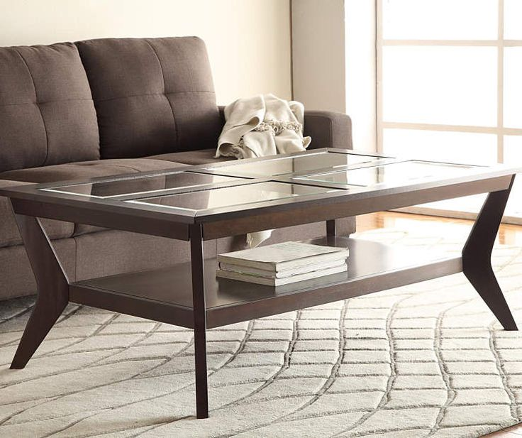 Espresso Beveled Glass Coffee Table U0026 End Table Collection At Big Lots.