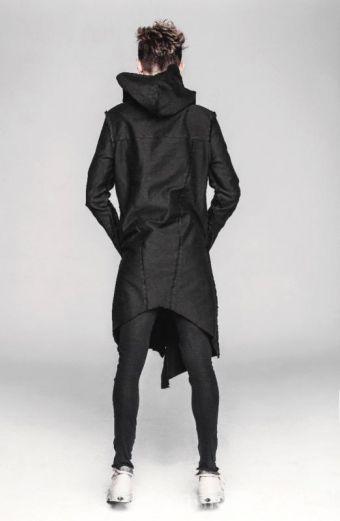 Parka khaki z kapturem ARTISTIC - płaszcz, płaszcz khaki, płaszcz na zimę