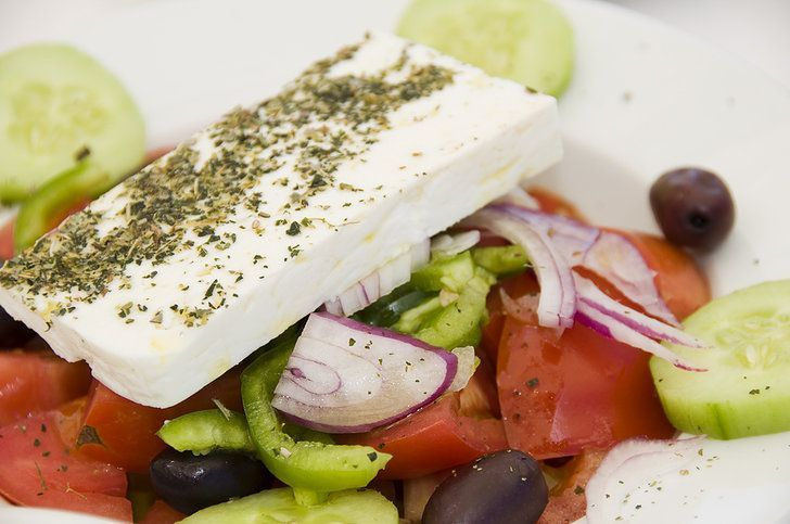 Greek Salad with Feta cheese (Xoriatiki) - My Greek Dish