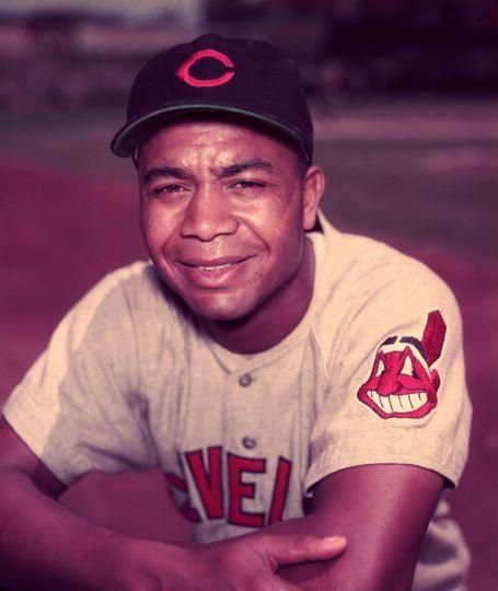 Larry Doby (1923 - 2003) Hall of Fame baseball player, he was the first black player in the American League, he spent most of his career with the Cleveland Indians