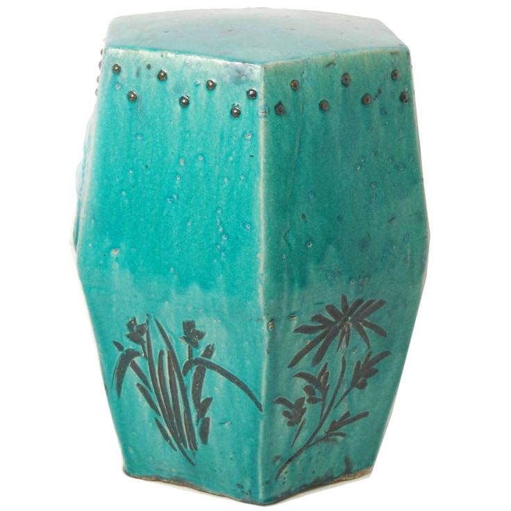 High Quality Early 20th Century Chinese Turquoise Glazed Garden Stool