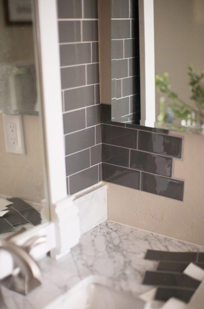 Transform Your Bathroom With Peel And Stick Backsplash