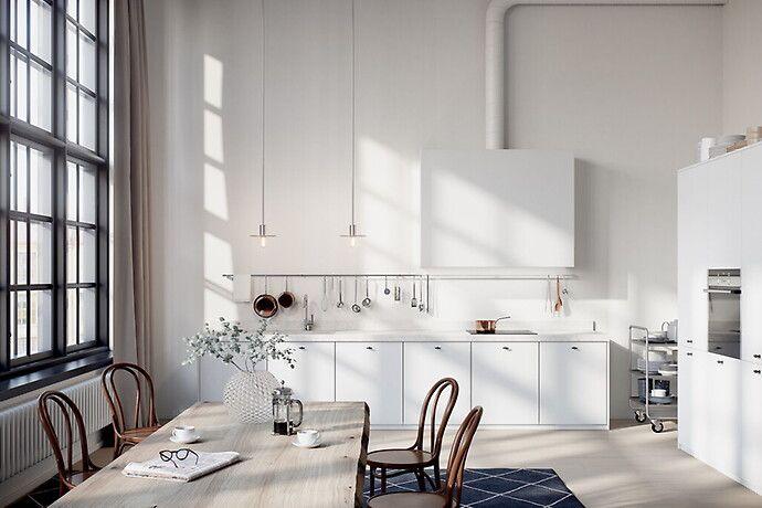 Bilder, Kök/matplats, Minimalistiskt, Modernt, Vit, Fönster, daggvas - Hemnet Inspiration