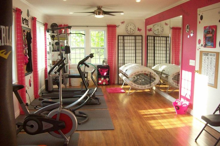 Dream home gym... wish I had a room to do this to!!