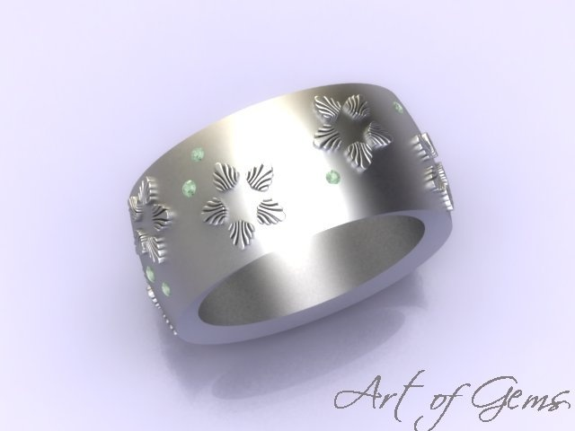 Spring Snow ring, celebrating the first flowers emerging from the winter snow #ArtofGems