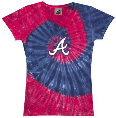 Slim T-Shirt: MLB - Braves Spiral V-Neck