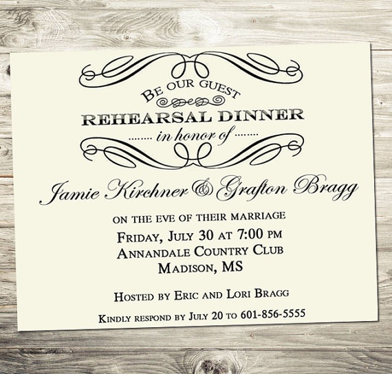 Cute Wedding Invitation Wording Samples: Cute Invitation For Rehearsal Dinner