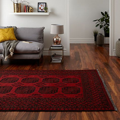 Amazing Buy John Lewis Afghan Rug, Red Online At Johnlewis.com Part 12