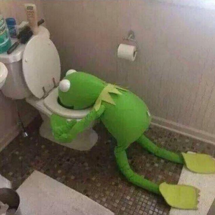 Kermit Throwing Up Blank Meme Template