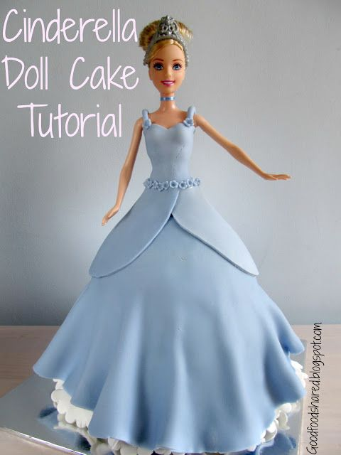 How to make a Cinderella / princess cake. Will swap blue for pink and add silver balls.