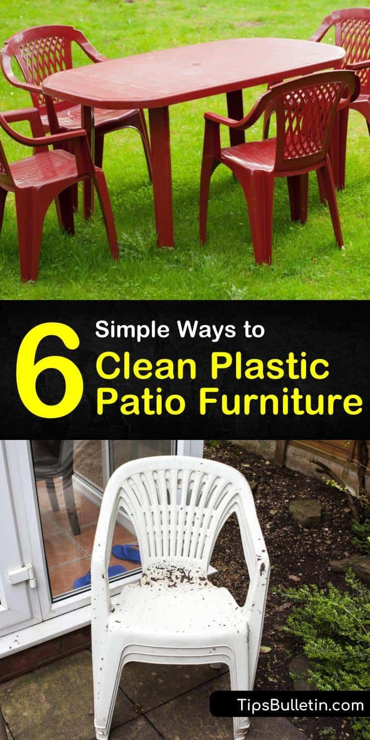 6 Simple Ways To Clean Plastic Patio Furniture In 2020