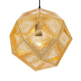Heal's | Etch Polished Brass Pendant Shade by Tom Dixon - Pendant Shades - Pendants & Chandeliers - Lighting