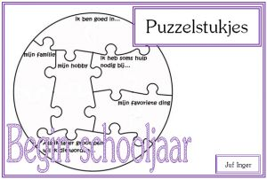 puzzelstukjes - wie ben ik - juf Inger