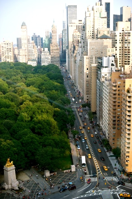 Central Park and the skyscrapers of New York City