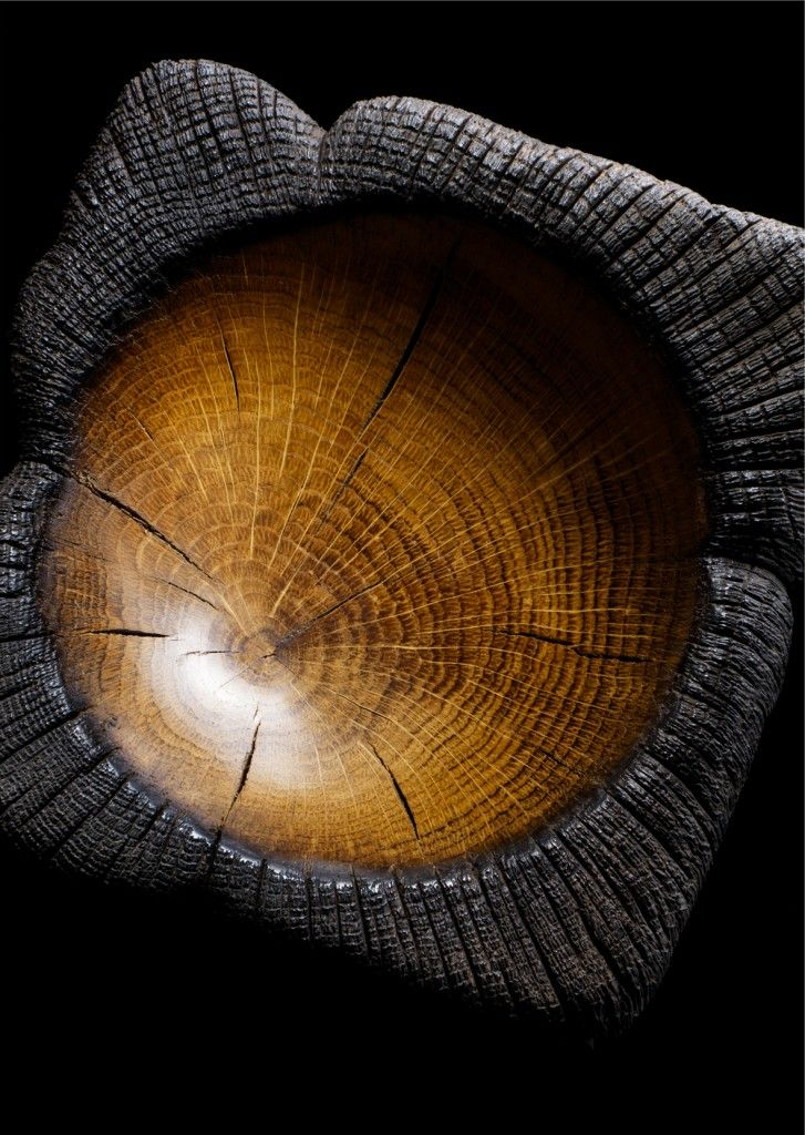 Burnt wood bowl Beauty!