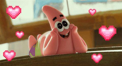 Patrick Star in love GIF animation