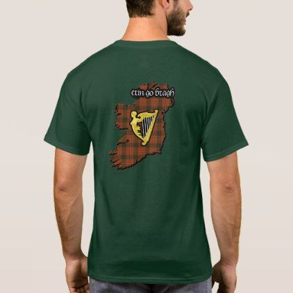 Conroy Irish Family Shield w/Galway Tartan Adult T-Shirt - family gifts love personalize gift ideas diy