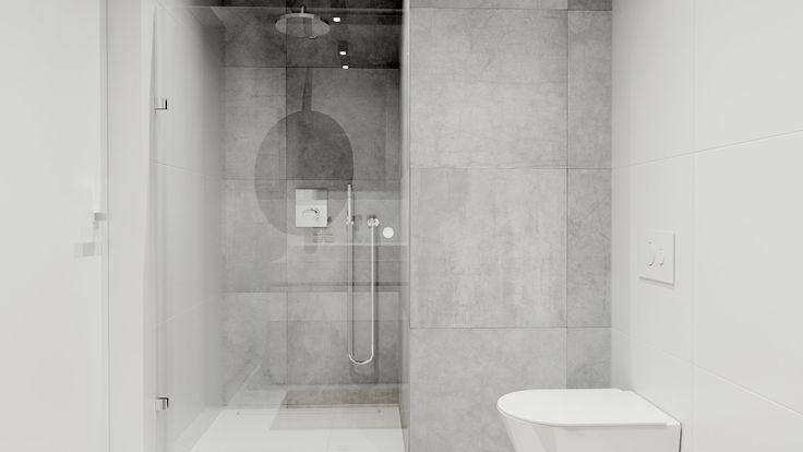 Minimalistyczna łazienka. Minimalist bathroom.