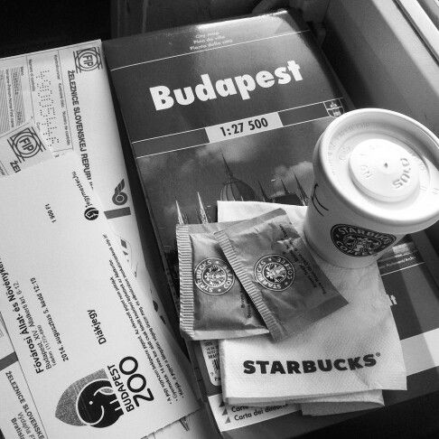 All day in one photo #Budapest #travel #StarBucks #ZOO #coffee