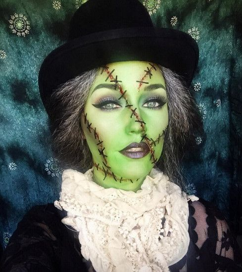 Frankenstein - The Most Hauntingly Gorgeous Halloween Makeup Looks on Instagram - Photos