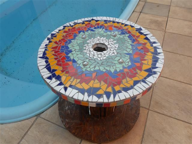 604 best mesas mosaico images on pinterest mosaic ideas for Mesas de mosaico