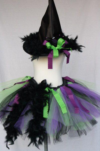 Spider Witch Tutu Costume-green tutu, purple tutu, witch tutu, halloween tutu…