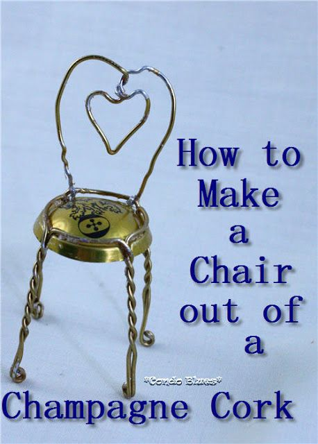 How to make a champagne cork cage chair gardens ideas for Garden design ideas cork