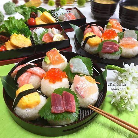 . 旦那さんお休みなので一緒に#お昼ごはん . 今日は、どデカイ#手毬寿司 🍙💓 . デカすぎって怒られました。 しかもお肉が食べたかったって🙌🏻 早く言ってくれよ🙄 . ✿ 手毬寿司 ・大葉まぐろ ・卵焼き ・かにかま ・アボカドサーモン ・大葉と鯛 ・何か分からない魚 ✿ お刺身盛合せ ✿ ハンバーグ ✿ 卵焼き ✿ ブロッコリーとトマト ✿ 三色かまぼこ ✿ お味噌汁 . 福岡の陥没道路がもう修復完了して ビックリ‼️すごいスピード仕上げでしたね👏🏻 . #ランチ #和食 #おうちごはん #クッキングラム #デリスタグラマー #おうちカフェ #料理 #料理写真 #手料理 #料理教室 #delicious #LIN_stagrammer #instafood #yummy #kitakyushu #fukuoka #cookingram #cooking #foodphoto #foodpic  #eat #wp_delicious_jp