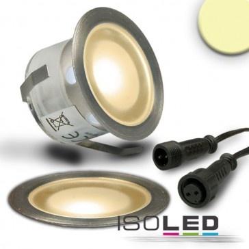 "LED Bodenstrahler ""SLIMEYE"", rund, IP67, edelstahl, warmweiss / LED24-LED Shop"