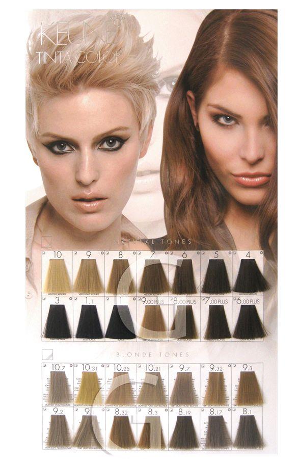 Keune Tinta Color Brown Shades Hair Color Chart Hair Color Names Permanent Hair Color