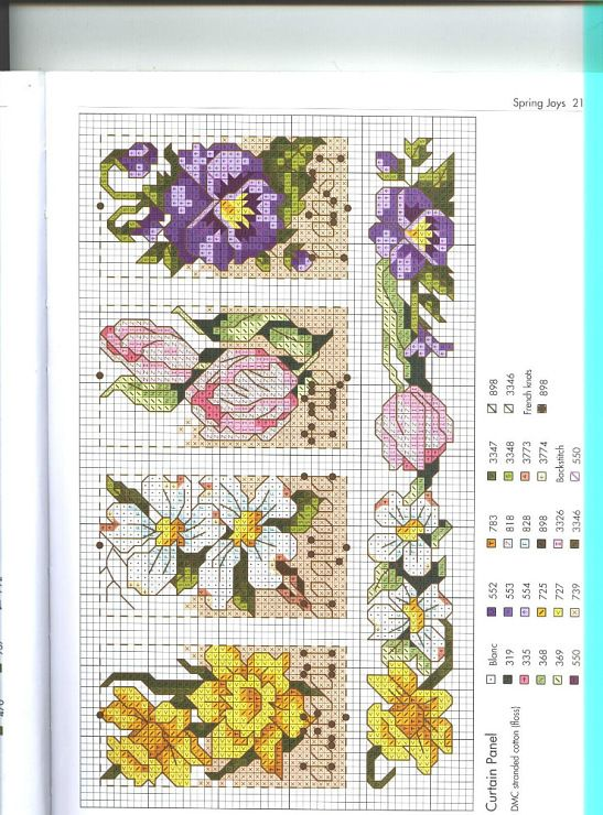 Cross-stitch Flowers patern