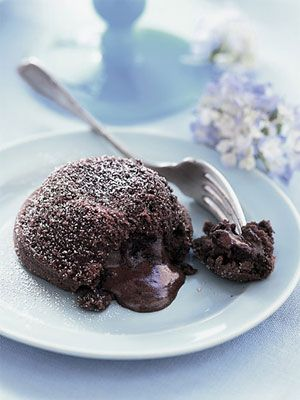 These warm molten chocolate cakes are a great homemade version of the ...