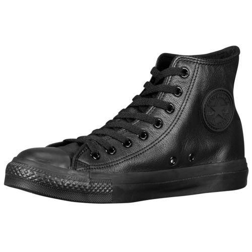 black leather converse mens
