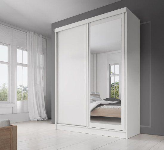 Witte Kleerkast Met Spiegel.Meubella Allison Kledingkast Wit 150 Cm In 2019