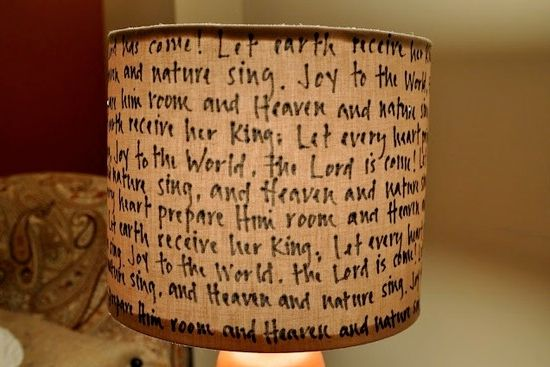 Cool Lamp Shade Ideas - words & songs