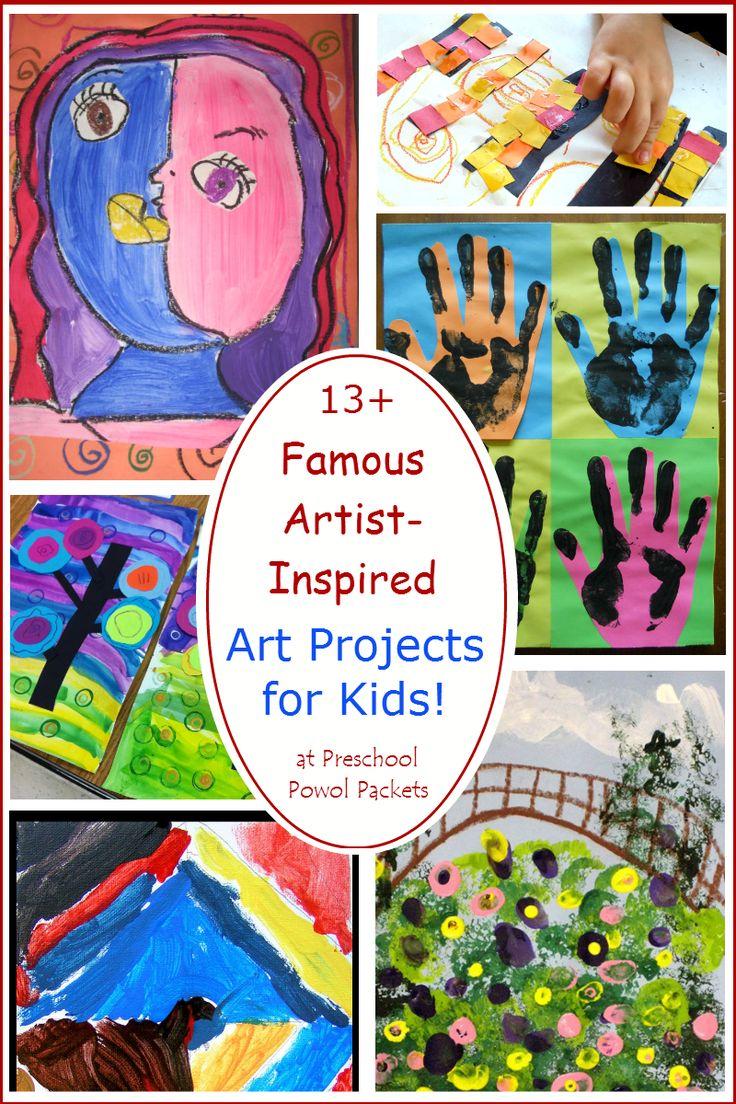 13+ Famous Artists Inspired Art Projects for Kids! | Preschool Powol Packets